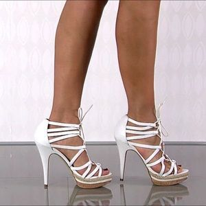 Chinese Laundry White stiletto Lace Up